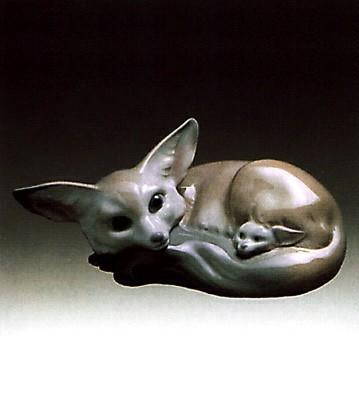 LladroFox And Cub 1969-85Porcelain Figurine