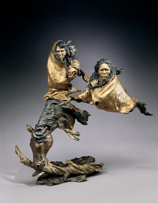 Mark HopkinsIn Search of PeaceBronze Sculpture