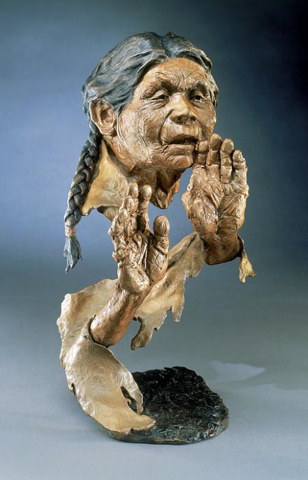 Mark HopkinsGrandmother's BlessingBronze Sculpture