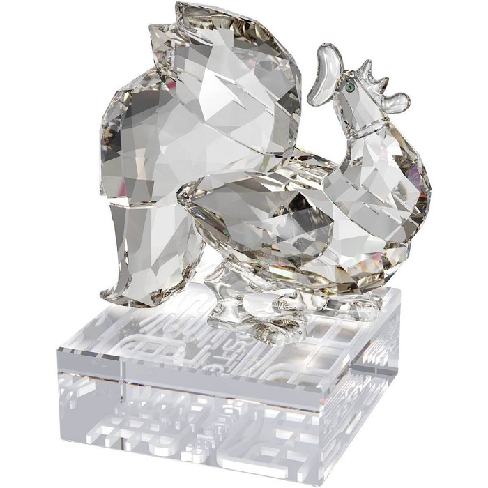 Swarovski Crystal Chinese Zodiac - Rooster-Clear