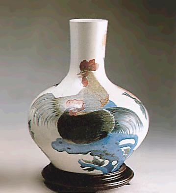 LladroRooster Vase 1971-72Porcelain Figurine