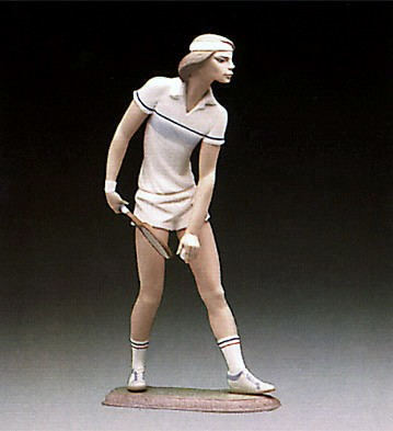 Lladro Male Tennis Player 1982-87 Porcelain Figurine