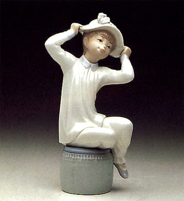 Lladro Girl With Bonnet 1971-1985 Porcelain Figurine