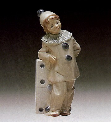 Lladro Girl With Domino 1971-81 Porcelain Figurine
