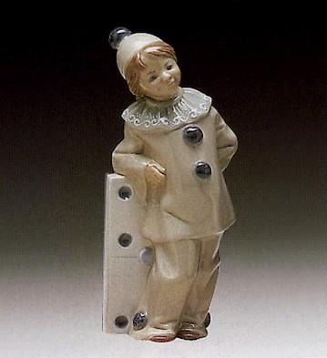 LladroGirl With Domino 1971-81Porcelain Figurine