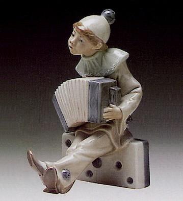 LladroBoy With Accordian 1971-81Porcelain Figurine