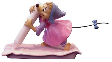 WDCC Disney Classics Cinderella Chalk Mouse (perla) No Time For Dilly Dally