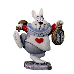 WDCC Disney Classics Alice In Wonderland White Rabbit Miniature