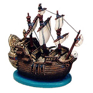 WDCC Disney Classics Peter Pan Captain Hook Ship Ornament Jolly Roger Ornament