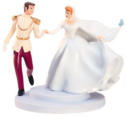 WDCC Disney Classics Cinderella And Prince Cake Topper Fairy Tale Wedding
