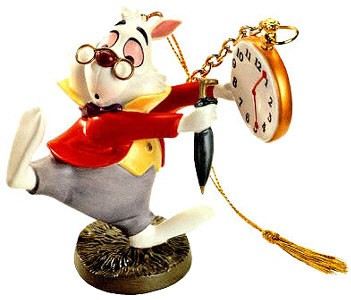 WDCC Disney Classics Alice In Wonderland White Rabbit No Time To Say Hello-Goodbye-Ornament