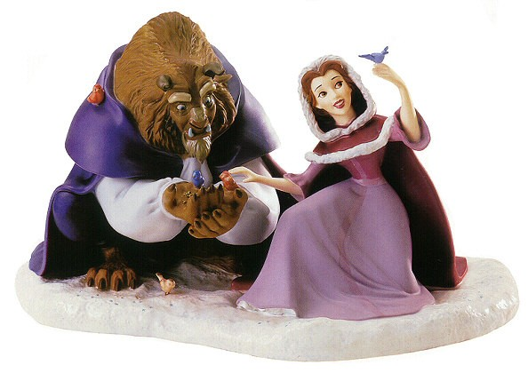 WDCC Disney Classics Beast & Belle She Didn't Shudder At My Paw