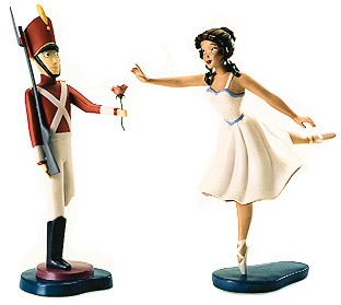 WDCC Disney Classics Fantasia 2000 Tin Soldier And Ballerina Gift Of Love