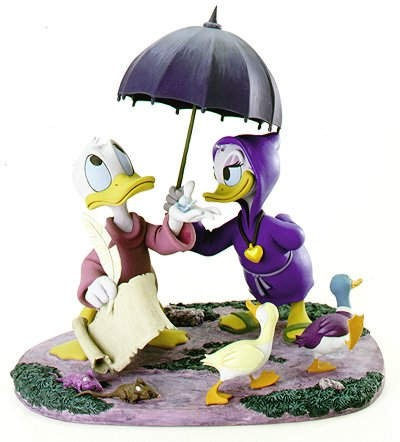 WDCC Disney Classics Fantasia 2000 Donald And Daisy Looks Like Rain