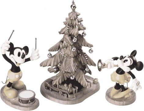 WDCC Disney Classics Mickey's Orphans Mickey, Minnie & Christmas Tree Hooray For The Holidays