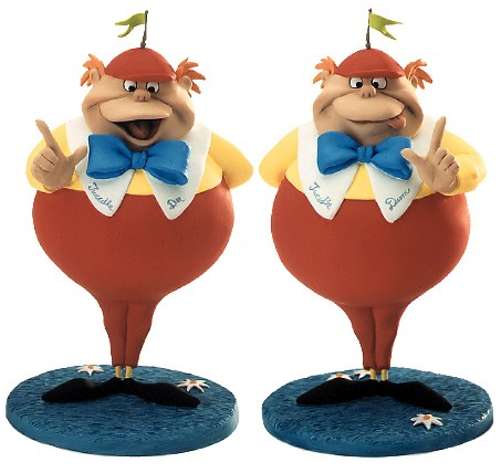 WDCC Disney Classics Alice In Wonderland Tweedle Dee & Tweedle Dum