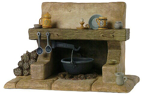 WDCC Disney Classics Snow White Dwarf's Hearth The Dwarf's Hearth