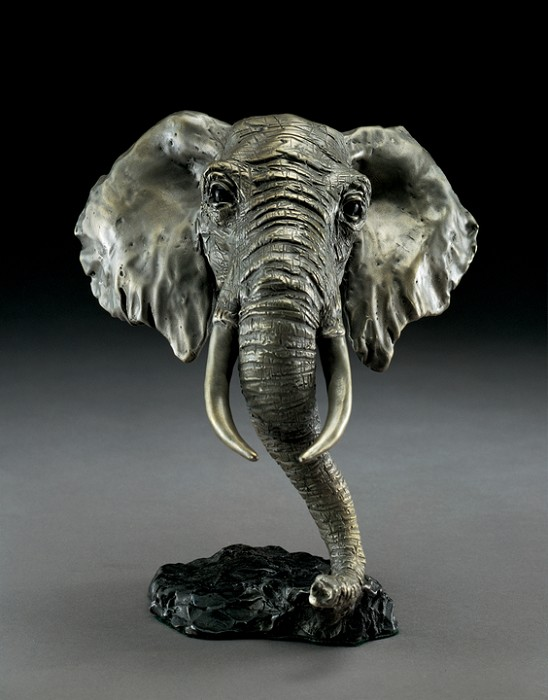 Mark Hopkins African Elephant Bronze Sculpture