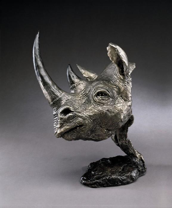 Mark HopkinsBlack RhinoBronze Sculpture