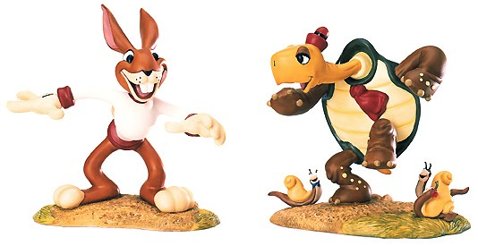 WDCC Disney Classics The Tortoise And The Hare Max Hare & Toby Tortoise