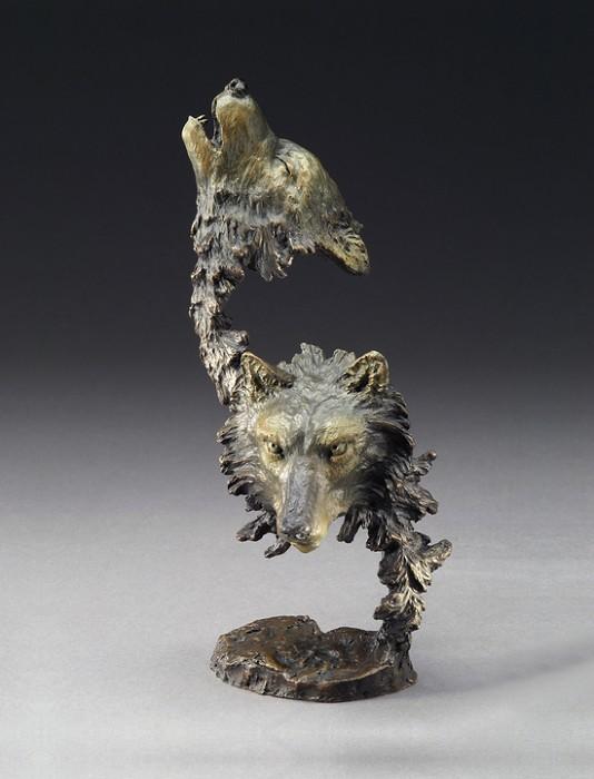 Mark HopkinsCry of the WolvesBronze Sculpture