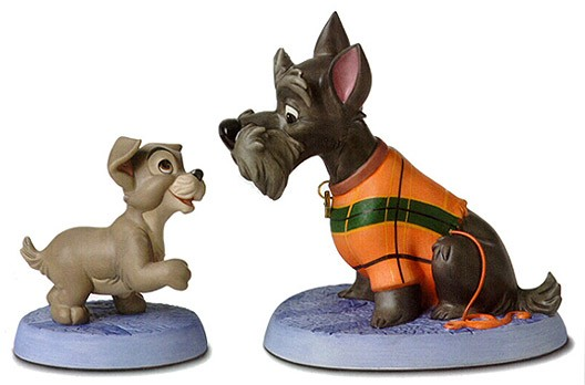 WDCC Disney Classics Lady And The Tramp Scamp And Jock Persistent Pup & Patient Pal