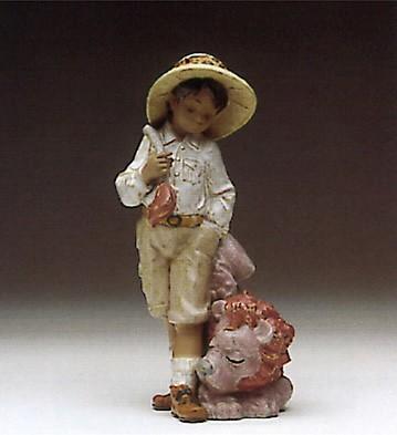 LladroLion Tamer 1993-95Porcelain Figurine
