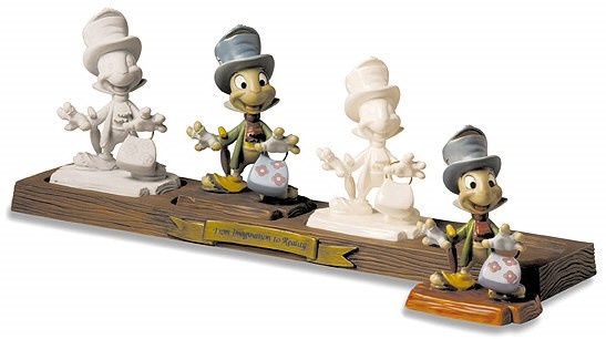 WDCC Disney Classics Jiminy Cricket Progression From Imagination To Reality
