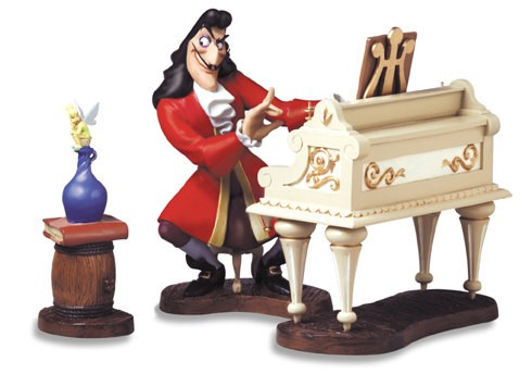 WDCC Disney Classics Peter Pan Captain Hook And Tinker Bell Accompaniment To Betrayal