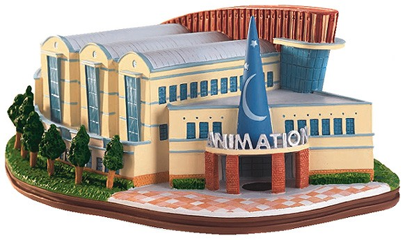 WDCC Disney Classics Walt Disney Studios Feature Animation Building Where The Magic Begins Artist Signed