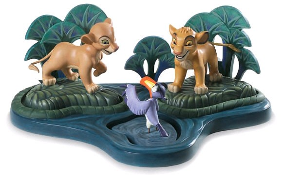 WDCC Disney Classics The Lion King Simba Nala Zazu And Base