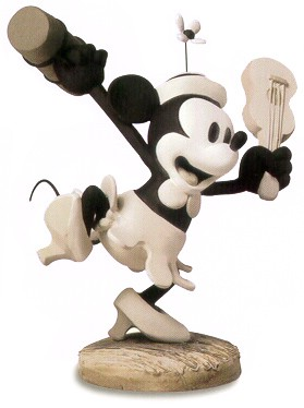 WDCC Disney Classics Steamboat Willie Minnie Mouse Minnie's Debut (Charter Member Edition)