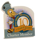 WDCC Disney Classics Wdcc Plaque Ten Year Charter Member Plaque