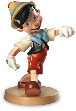 WDCC Disney Classics Pinocchio Lookout World Signed
