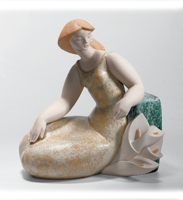 LladroLady with Lillies 1 2004-08Porcelain Figurine