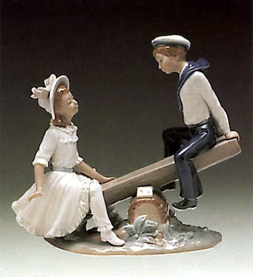 Lladro See Saw 1974-91 Porcelain Figurine