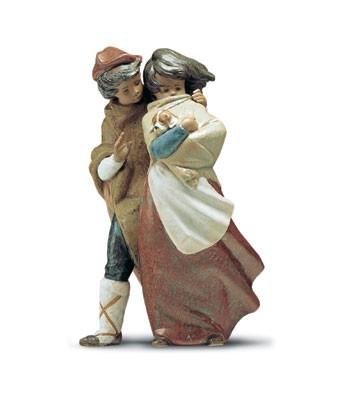 LladroThe Wind 1974-2001Porcelain Figurine