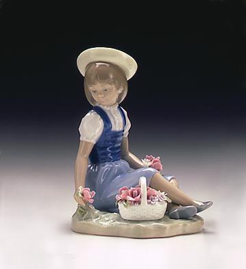 LladroPicking Flowers 1974-98Porcelain Figurine