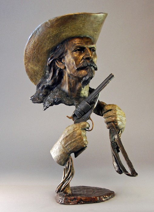 Mark Hopkins Buffalo Bill Bronze Sculpture