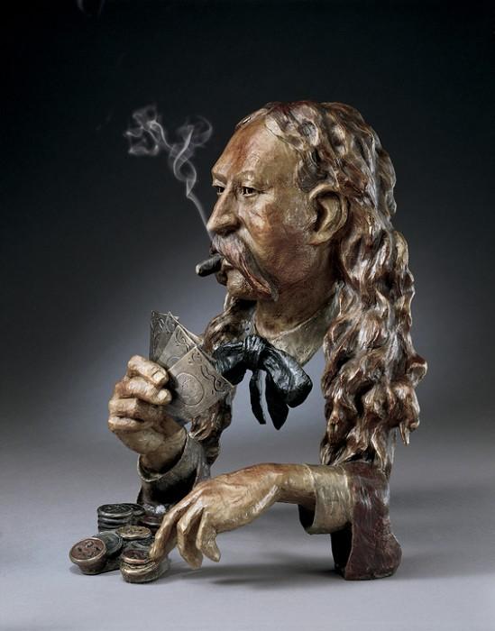 Mark HopkinsAces & EightsBronze Sculpture