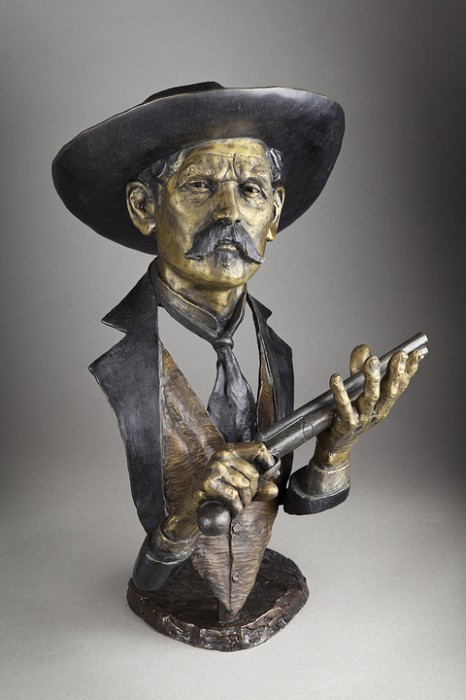 mark hopkins doc holliday bronze sculpture