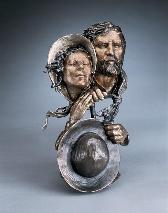 Mark HopkinsBack to the LandBronze Sculpture