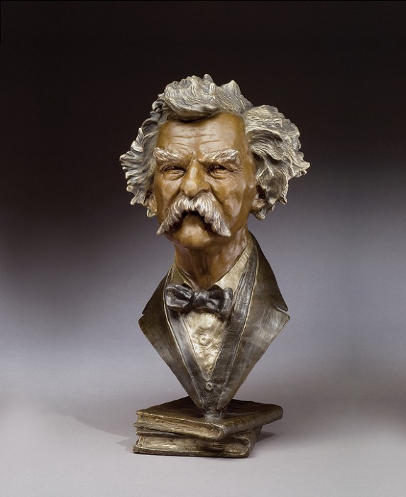 Mark Hopkins Mark Twain Bronze Sculpture