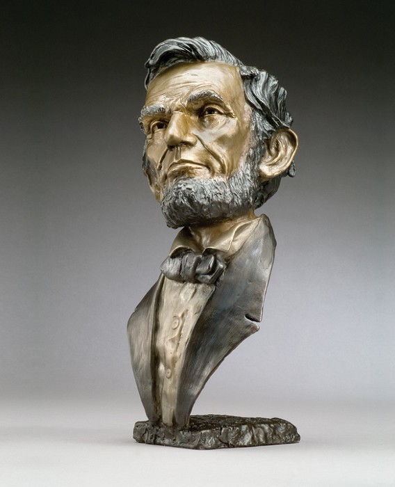 Mark Hopkins Abraham Lincoln Bronze Sculpture
