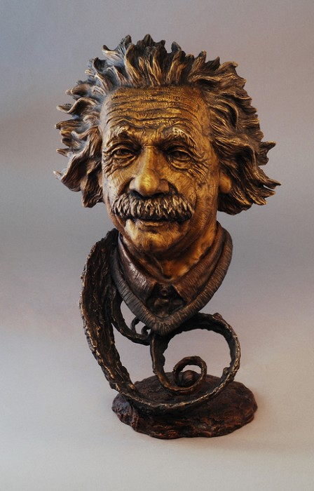 Mark Hopkins Einstein Bronze Sculpture