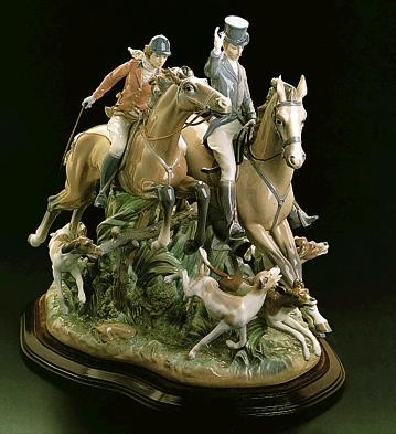 Lladro Hunting Le750 1974-84 Porcelain Figurine
