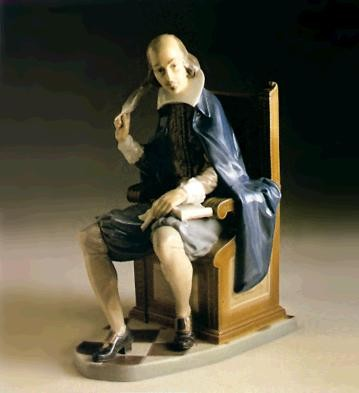 LladroWilliam Shakespere Le1200 1982-88Porcelain Figurine