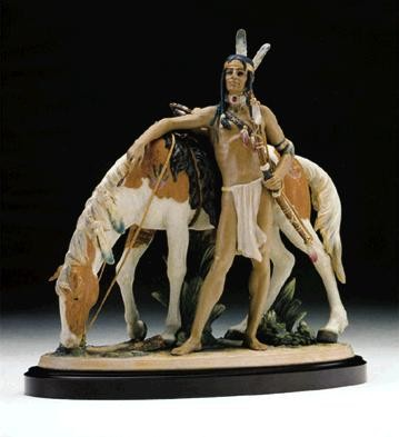Lladro Indian Brave 1994-98