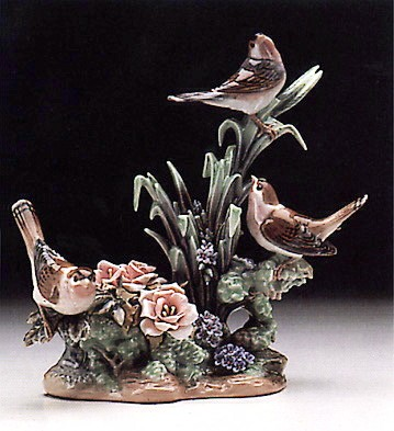 LladroThree Birds 1978-85Porcelain Figurine