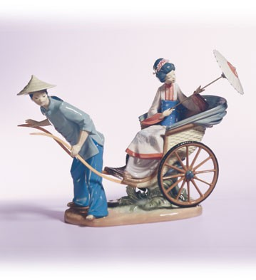 Retired Lladro A Rickshaw Ride